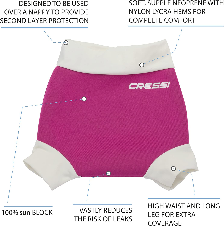 XXL-24+ Mois Reusable Swim Nappy Couche de nage Mixte Enfant Rose//Blanc Cressi Sub S.p.A