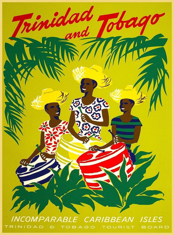 Amazon com magnet trinidad tobago incompare caribbean vintage travel advertisement art magnet automotive