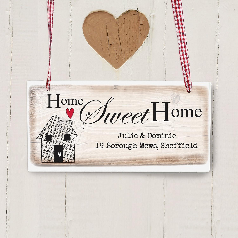 Shabby Chic rústico personaliseitonline dulce hogar cartel ...