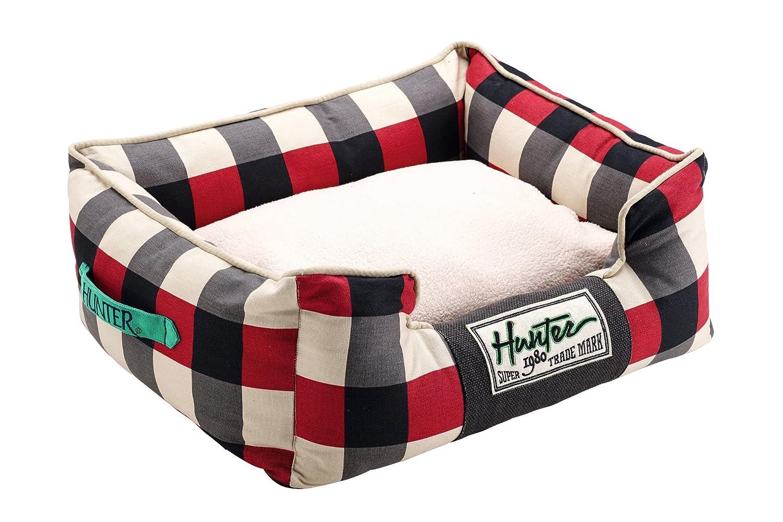 HUNTER Newport Perro sofá, 60 x 45 cm, Rojo/Negro: Amazon.es: Productos para mascotas