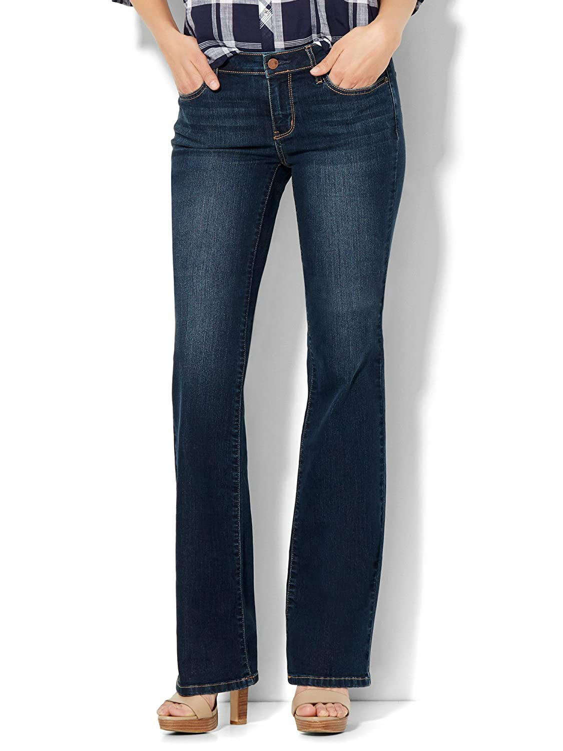 New York & Co. Soho Jeans - Curvy Bootcut - Flawless Blue Wash
