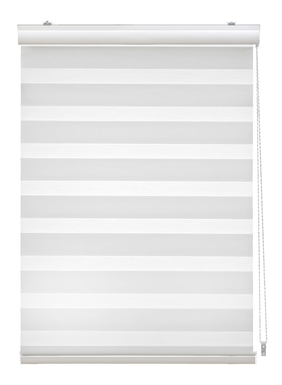 JalousieCrew Doppelrollo mit Blende Farbe weiß - Breite 60 bis 140 cm Länge 160 cm und 220 cm - Duo - Rollo (140 x 160 cm)