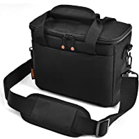FOSOTO Padded Camera Case with Extra Rain Cover Compatible for Canon EOS Rebel T3i T5 T6 4000D SL2 Nikon B500 D3400…
