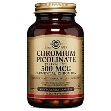 Amazon com: Solgar – Chromium Picolinate 500 mcg, 120 Vegetable