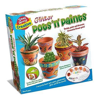 Small World Toys Creative - Glitter Pots \'N\' Paints Craft Kit: Toys & Games [5Bkhe0306023]