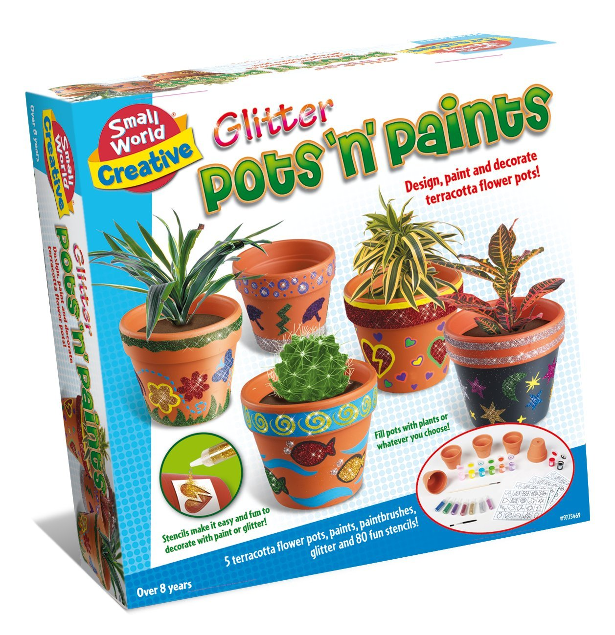 Small World Toys Creative Glitter Pots 'N' Paints Craft Kit