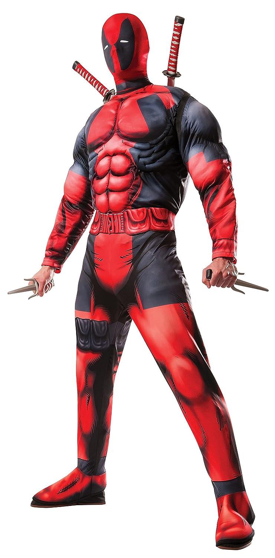 Rubie costume da adulto,/taglia standard Rosso//Nero costume ufficiale Marvel Deadpool Deluxe