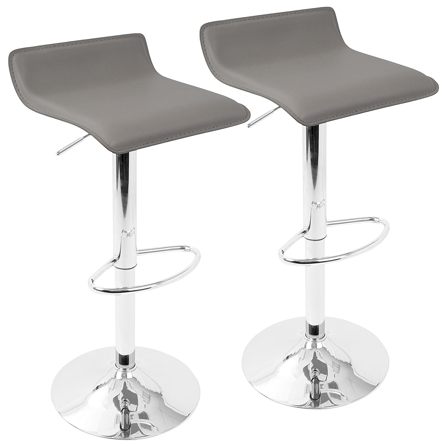 Incredible Woybr Bs Gy2 Pvc Leather Chrome Ale Barstool Set Of 2 Alphanode Cool Chair Designs And Ideas Alphanodeonline