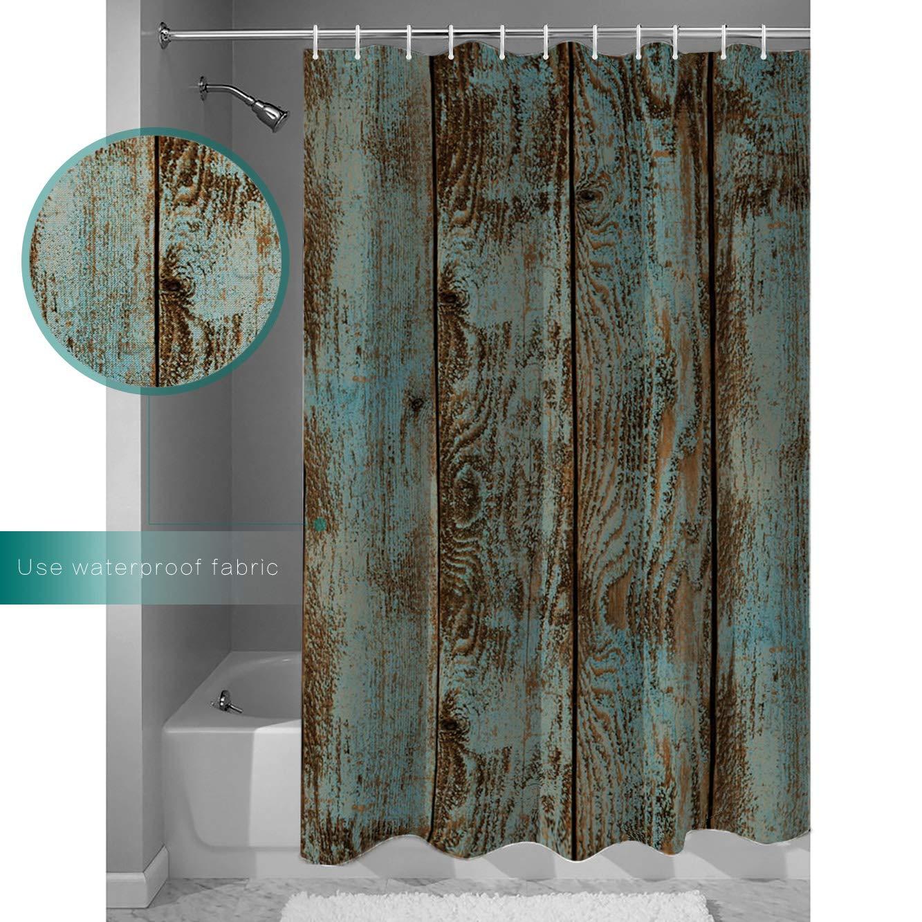 Amazon Customize Shower Curtain Retro Wood Grain Waterproof Polyester Fabric Bathroom Decor 72x84inch Home Kitchen