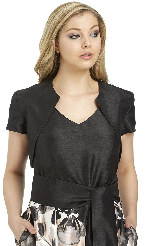 Roman Originals Women's Short Sleeve Bolero - Ladies Jackets 20802