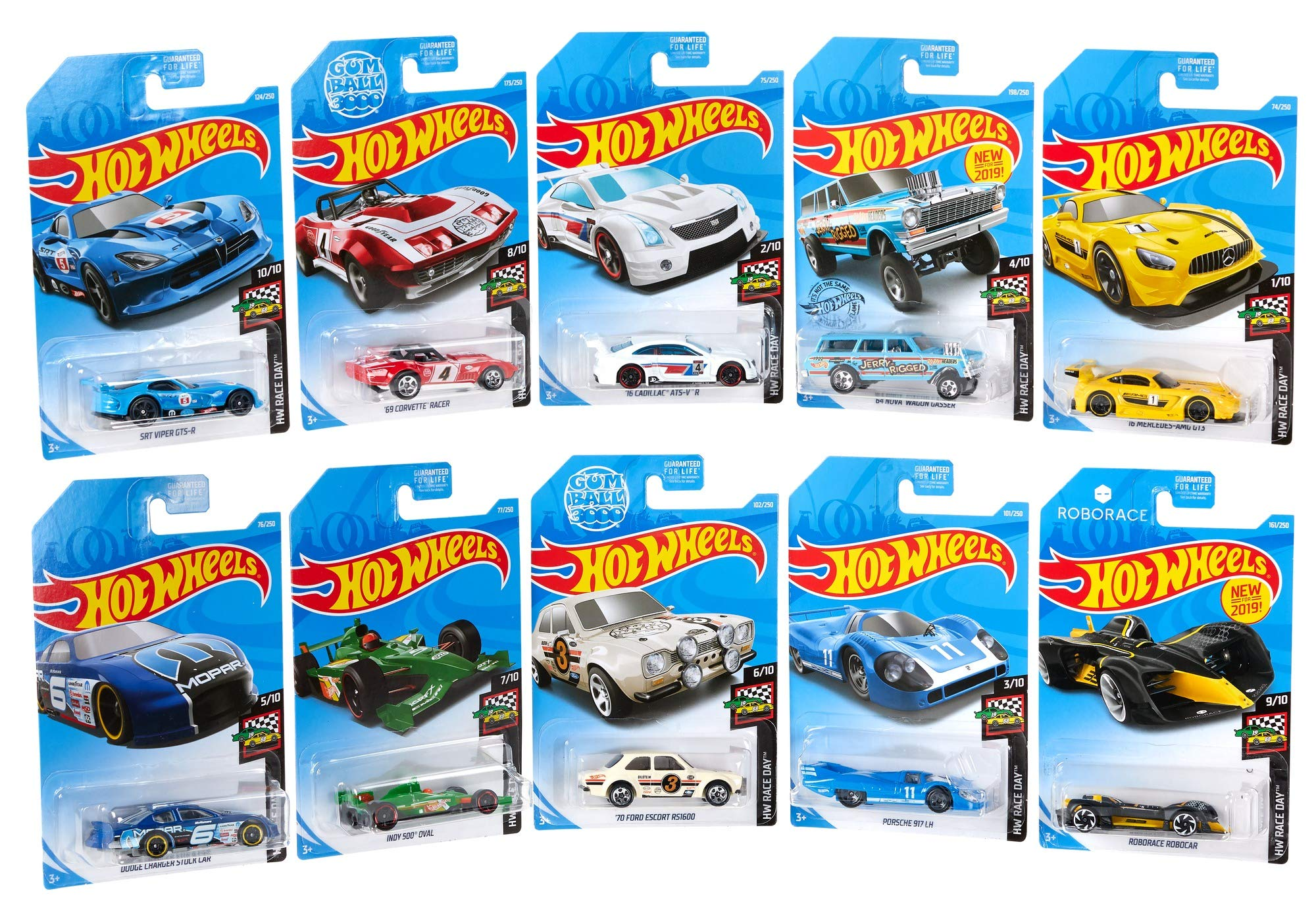 Hot Wheels GJK03 10 Car Pack Mini Collection