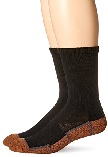099f1185a5ac Copper Sole Men's 2 Pack Athletic Crew Socks, Black/Grey, 10-13 Sock ...