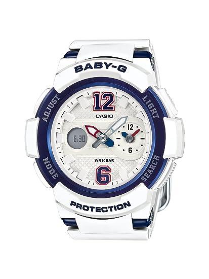 CASIO Baby-G BGA-210-7B2ER - Reloj Digital de Cuarzo con Correa de Resina para Mujer, Color Blanco: Amazon.es: Relojes