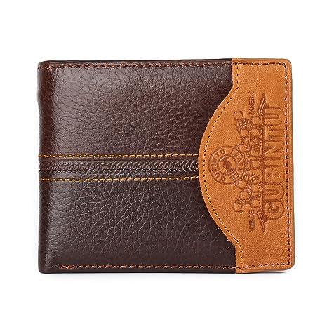 Monedero de costura de personalidad de los hombres Monedero de cuero creativo de la cartera de