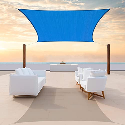 ColourTree CTAPR1220 Custom Size 22' x 22' Blue Sun Shade Sail Canopy UV Block Square