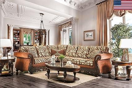 Amazon Com Esofastore Formal Traditional Living Room Sectional Sofa