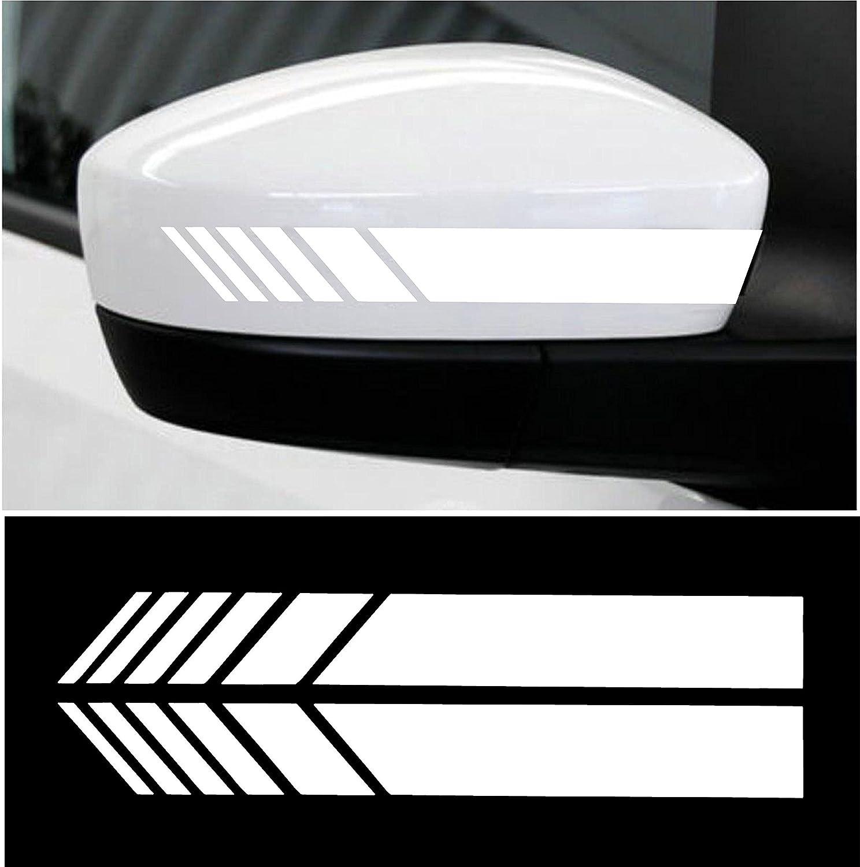 Cvanu car rearview mirror strip sticker vinyl racing decal emblem for honda brvwhite amazon in car motorbike