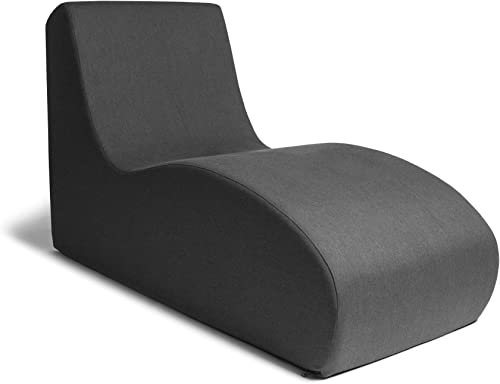 Jaxx Shea Lounger – Plush Foam Lounge Chair for Living Rooms, Dorms, or Offices – Black