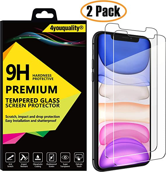 JETech Screen Protector for Apple iPhone 11 and iPhone XR 3-Pack Tempered Glass Film 6.1-Inch