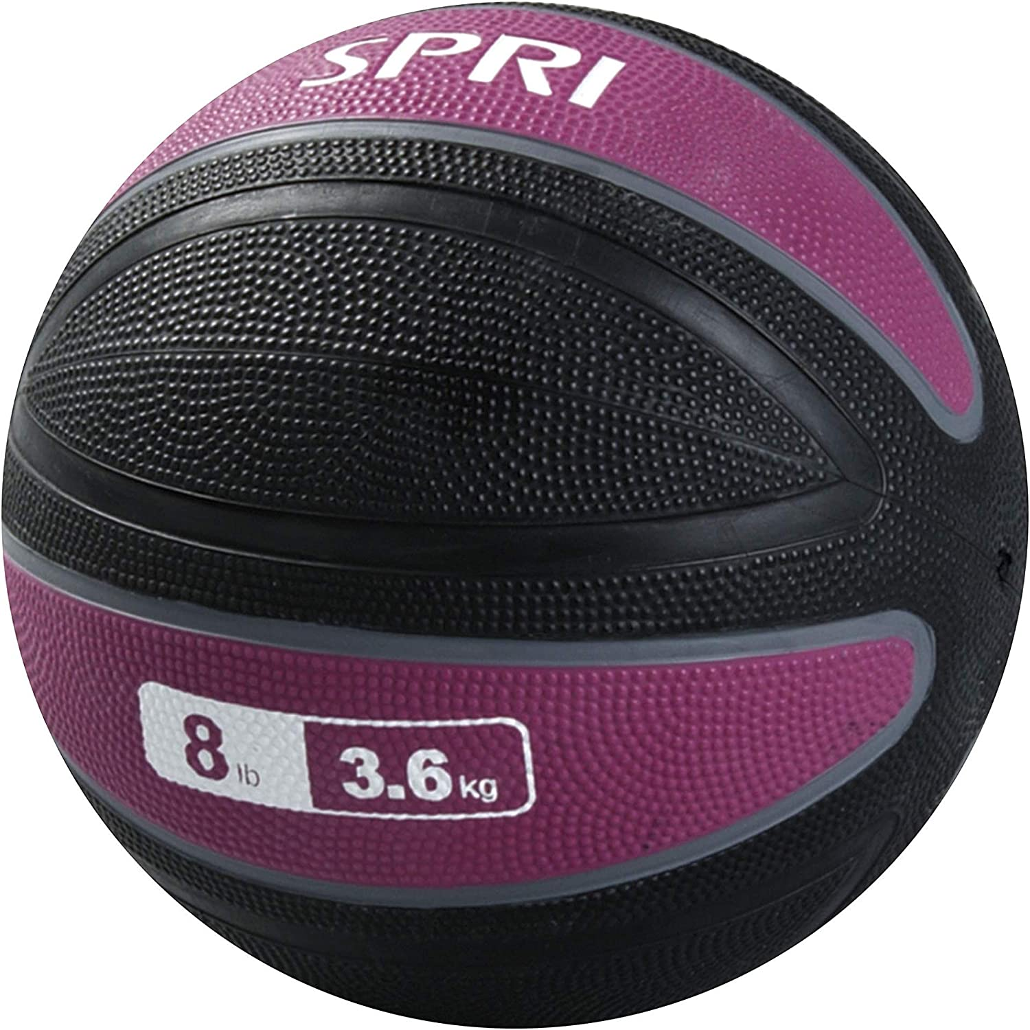 SPRI Xerball Medicine Ball Thick Walled Durable Construction with Textured Surface, Purple, 10-Pound : Weight Bars : Sports & Outdoors