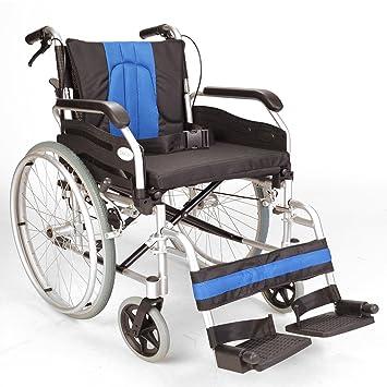 luminio ligero plegable auto de propulsión para sillas de ruedas con asiento de 50 cm de ancho adicional ECSP01-20: Amazon.es: Salud y cuidado personal