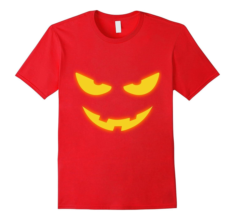 Yellow Scary Face Halloween Tshirt for Boys Girls Women Men-4LVS