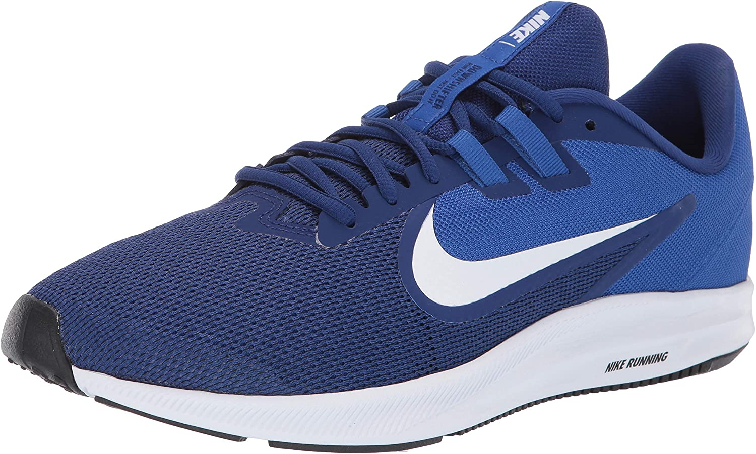 Nike Men's Downshifter 9 Running Shoe, deep royal blue/white - game royal,...