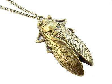 Amazon cicada necklace cicada pendant necklace ancient bronze cicada necklacecicada pendant necklaceancient bronze insect necklacecicada jewelry bug aloadofball Choice Image