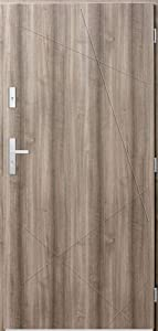 Diego - Front Single Entry Door/Modern Exterior Doors/Security Entry Doors (Bleached Oak)