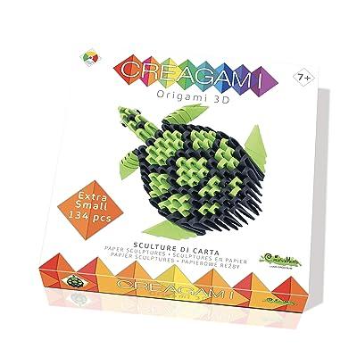 CreativaMente Creagami Turtle, Multicoloured, 702: Toys & Games