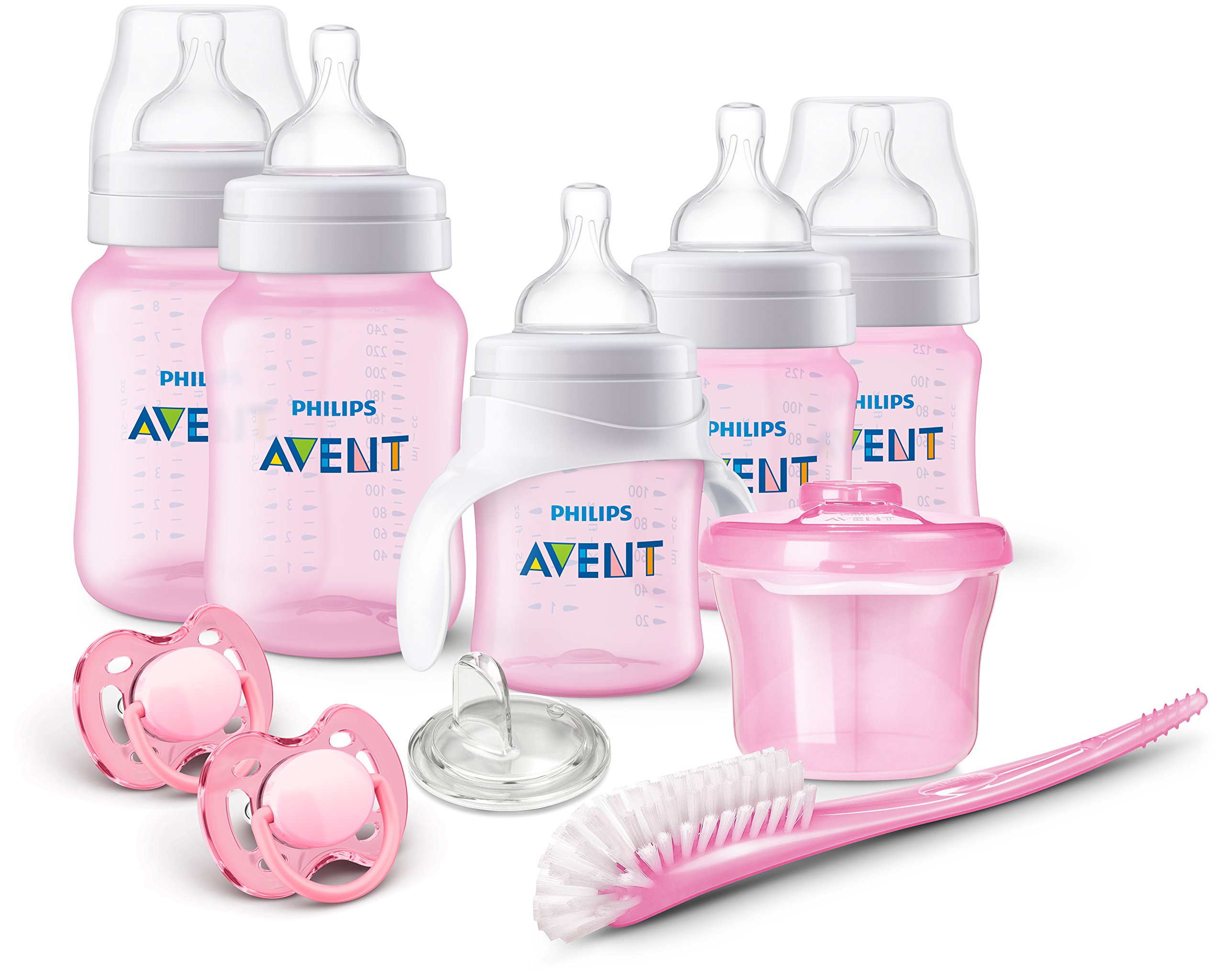 baby bottle anti colic original philips avent ideal newborn starter set pink 758614033135 ebay. Black Bedroom Furniture Sets. Home Design Ideas