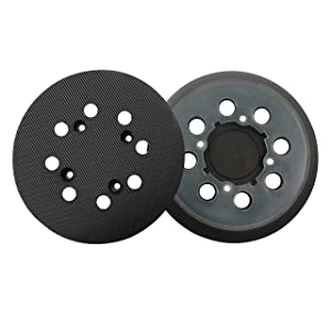 5 inch 8 Hole Replacement Sander Pads, Hook and Loop Orbital Sanding Backing Plates 152mm for DWE6421, DWE6423K,(2 Packs)