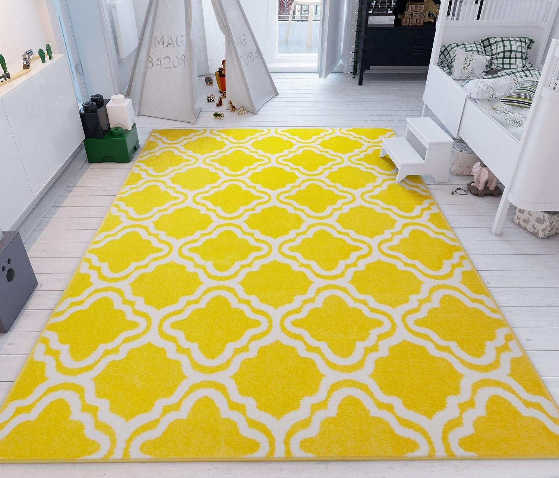 """Well Woven Teppich """"Calipso , in moderner Optik mit geometrischem Design, 50 x 80 cm, gelb, 150 x 210 cm"""
