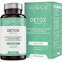 Detox Potente Hígado | Plan Detox Adelgazante y Diurético Vegano | Cleanser para Eliminar Toxinas con Alcachofa, Rábano…