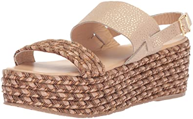 Women's Montpellier Braided Open Toe Sling Back Espadrille Wedge Sandal Cappuccino 7 M US