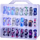Adam Toys Organizer Storage Compatible with Hot Wheels Car, Container for Matchbox Cars, Mini Toys, Small Dolls, Double Sided