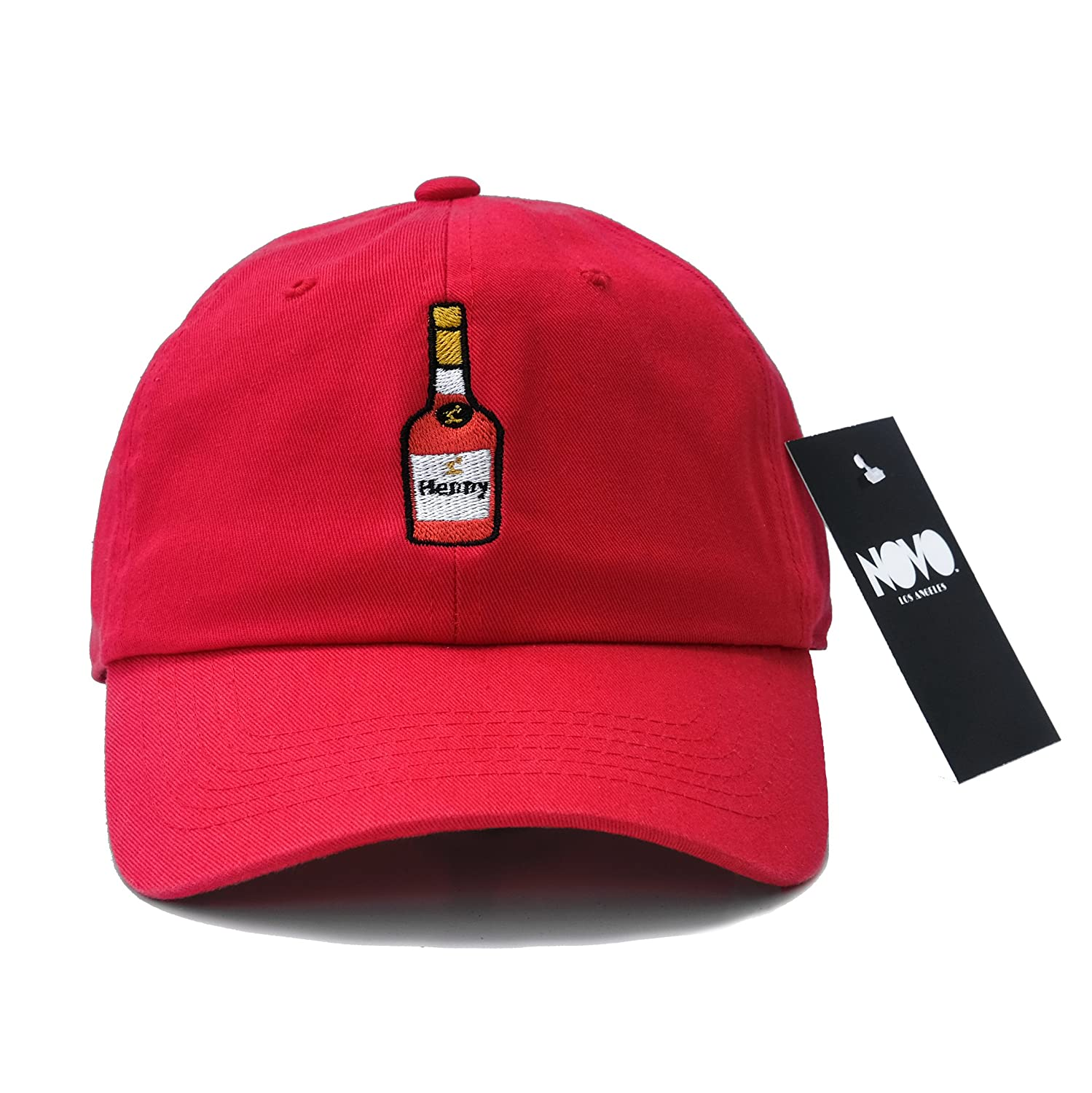 9dc3d15b Amazon.com: Novo Los Angeles Henny Dad Hat Baseball Cap by (Red): Clothing