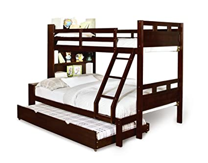 Amazon Com Furniture Of America Bronze Bunk Bed With Bookcase And