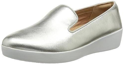 Fitflop Audrey Metallic Smoking Slippers, Mocasines para Mujer: Amazon.es: Zapatos y complementos