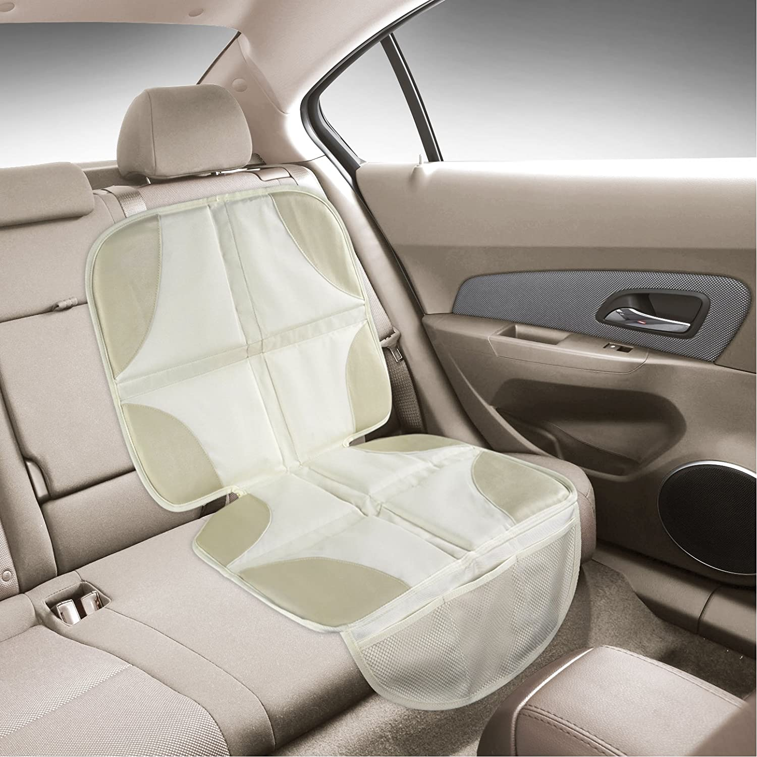 Amazon Luxury Seat Protector Mat To Use Under Your Childs Car Light Color Blend With Tan Beige And Neutral Leather In Prestige Family