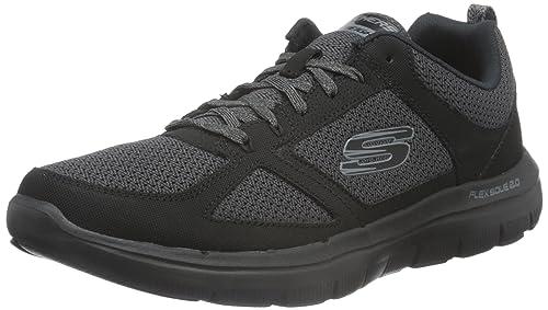 Skechers Flex Advantage 2.0, Zapatillas de Deporte Exterior para Hombre,  Negro (BBK)