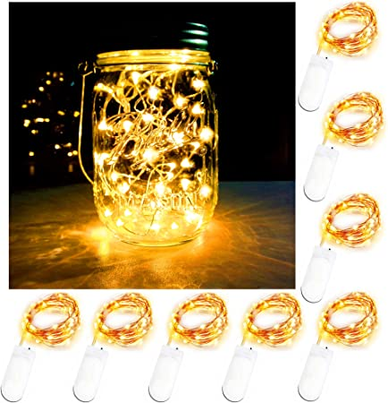 Blue 20 LED 6.5 Feet//2M Led Micro String Lights Waterproof Copper Wire Starry Light Battery Operated Lights for Indoor Outdoor Home Garden Party Wedding Christmas Decor Battery Fairy Lights