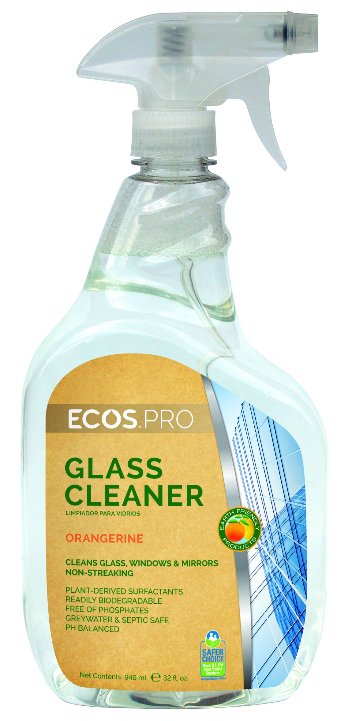 ECOS PRO PL9362/6 Glass Cleaner, Orangerine (Pack of 6)