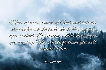 Amazoncom Ramakrishna Famous Quotes Laminated Poster Print 24x20
