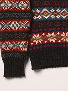 Jamieson's Fairisle Crazy V-neck Sweater 11-15-0761-247: Geometric