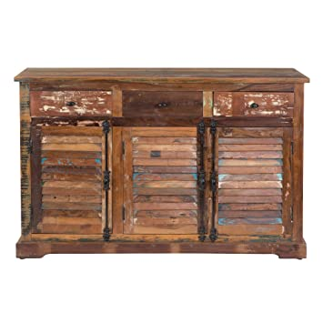 Yosemite Home Decor YFUR-SBA5139 Reclaimed Sideboard, Hand Painted Reclaimed  Wood Finish