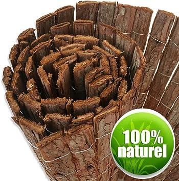 Casa Pura – Valla de madera - Corteza natural - Jardín, Terraza, Balcón - 3 metros - Marrón - 3 alturas disponibles, marrón: Amazon.es: Bricolaje y herramientas