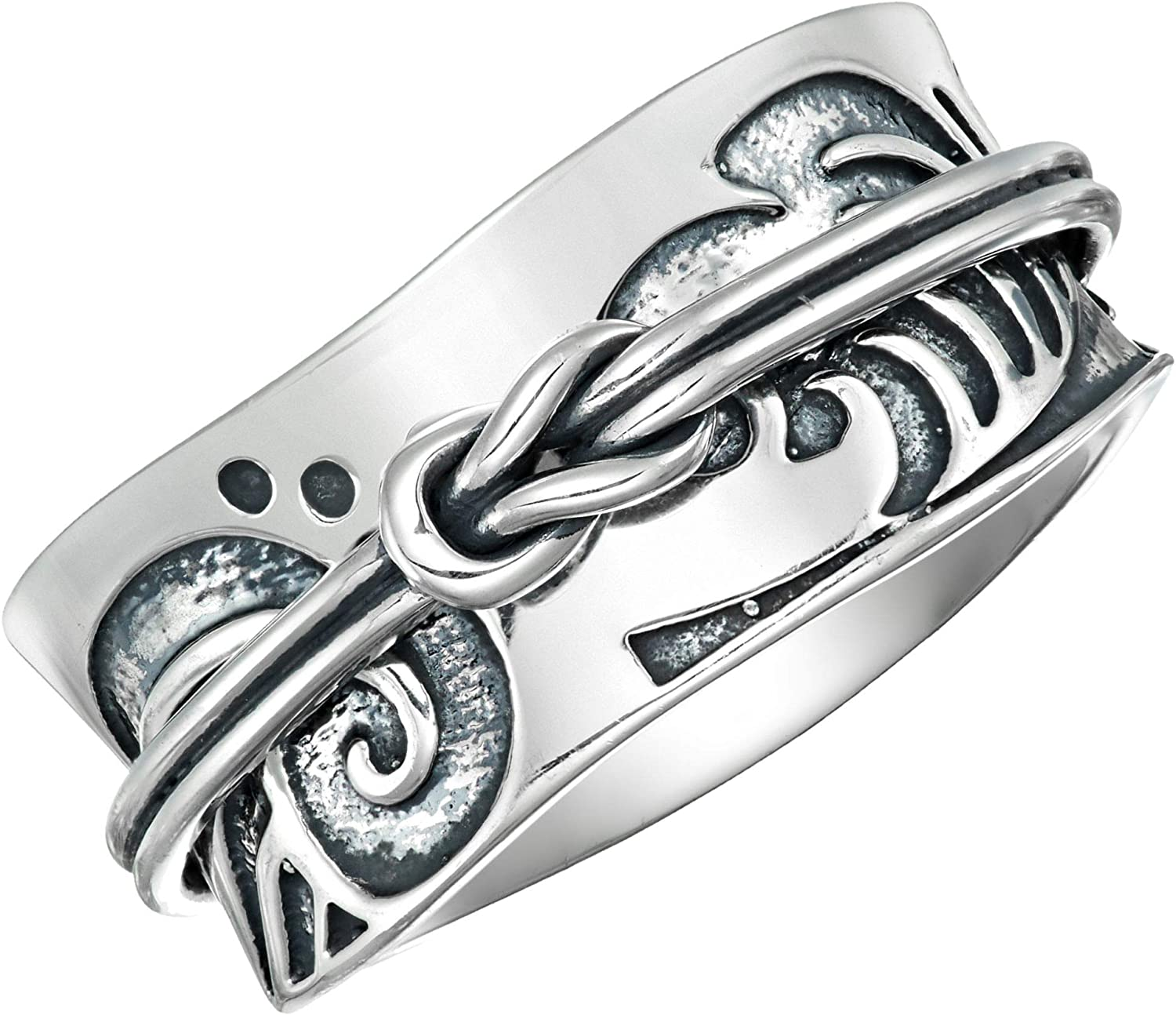 925 sterling silver spinner anxiety unisex  Fidget Rings which  Are Cute *And* Can Help You De-Stress...