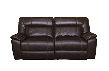 New Classic Furniture 22-398-32-BRW Thornton Upholstery Sofa, Power, Durham Brown