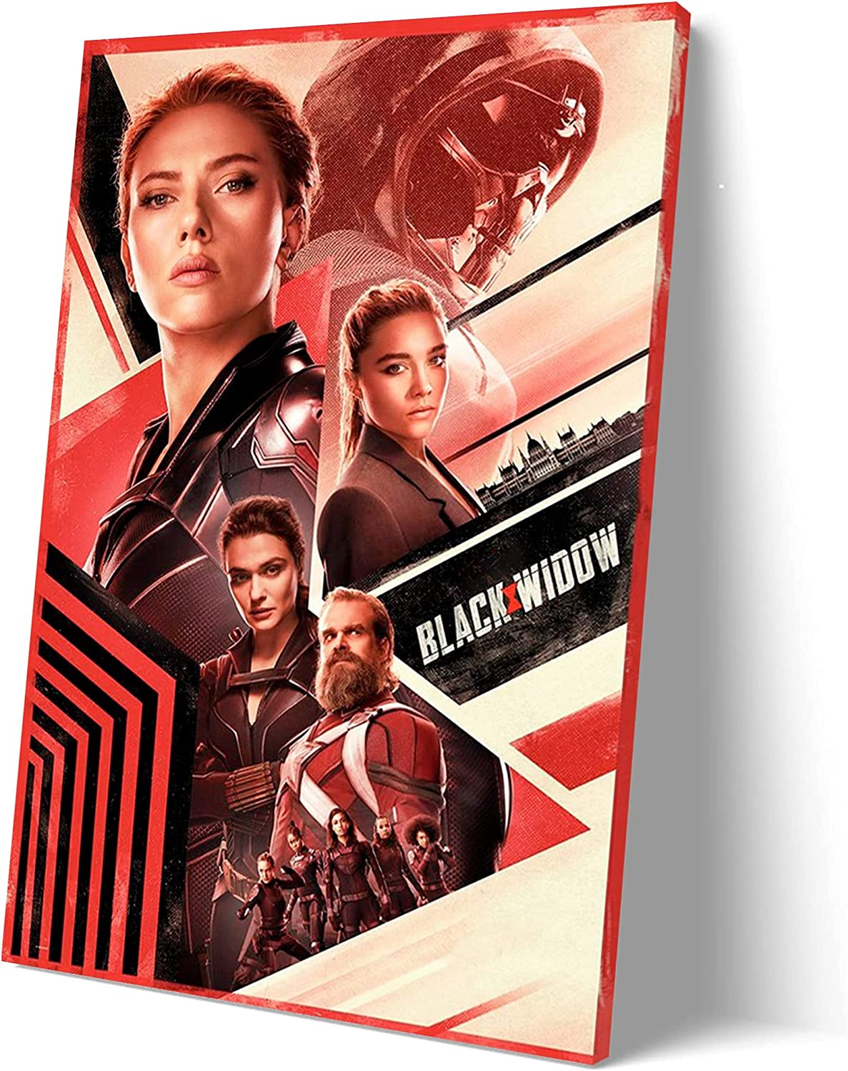 2021 Black Widow Movie Poster for Walls Painting Canvas SANTA RONA Large Home Decor Wall Art Picture Canvas Wall Xirokey (12x18